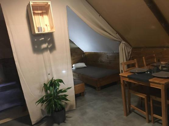 Lodge Amazone 20m² with 2 bedrooms and wooden terrace